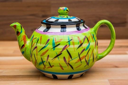 Splash medium teapot in Lime Green