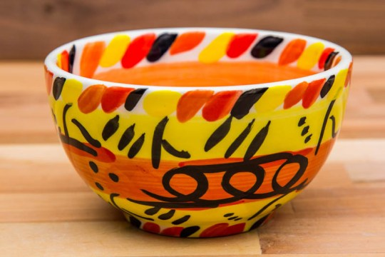Abstract sugar bowl in yellow