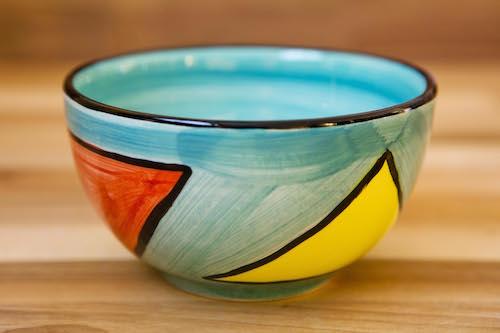 Carnival sugar bowl in pale blue