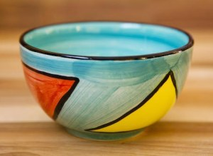 Carnival sugar bowl in pale blue
