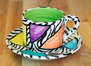 Carnival Safari small cup and saucer