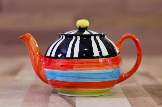 Hi-Life Gaudy large teapot in broad stripe