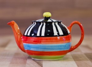 Hi-life gaudy medium teapot in Broad Stripe