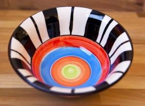 Hi-Life Gaudy cereal bowl in broad stripe