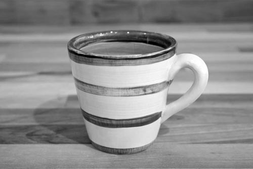 Hi-Life Gaudy small tapered mug in Scribble