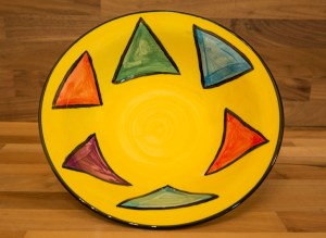 Carnival cereal bowl in Yellow