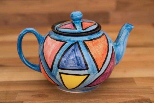 Carnival large Teapot in Pale Blue