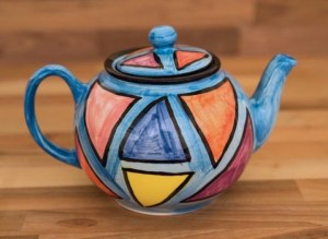 Carnival medium teapot in pale blue