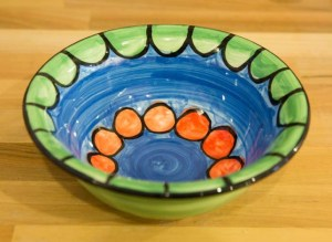 Fruity cereal bowl in Green