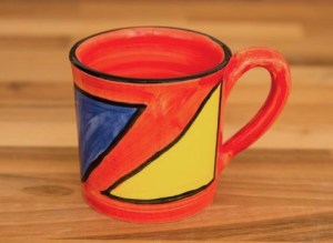 Carnival wide parallel mug in Red