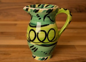 Abstract creamer jug in green