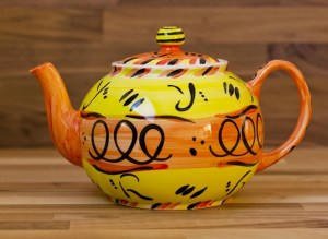 Abstract large Teapot in yellow