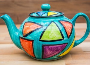 Carnival extra large Teapot in Sea Green
