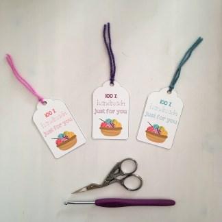 100% handmade tags