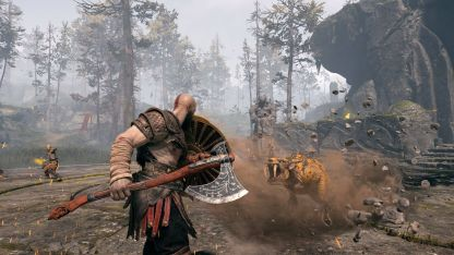 Combat is refreshed with Kratos dumping chains for an axe