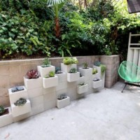 Reuse: Concrete Block Garden