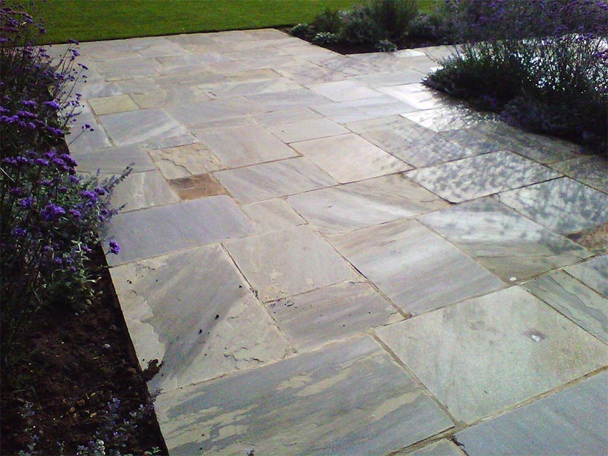 New Riven yorkstone patio