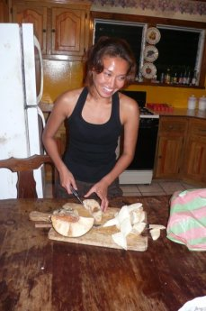 Utila 2008, the first time I ever cooked mazapan