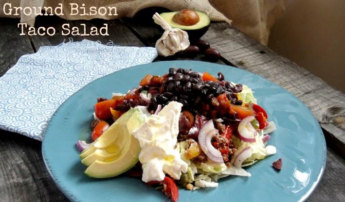 ground bison taco salad