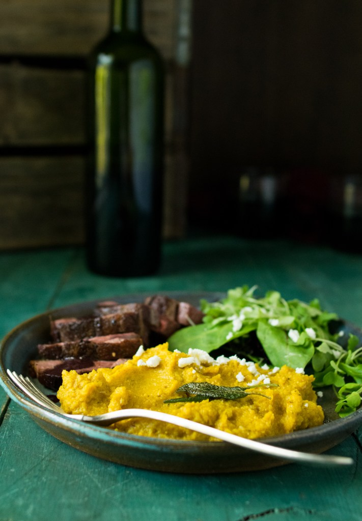 Pumpkin and Roasted cauliflower puree