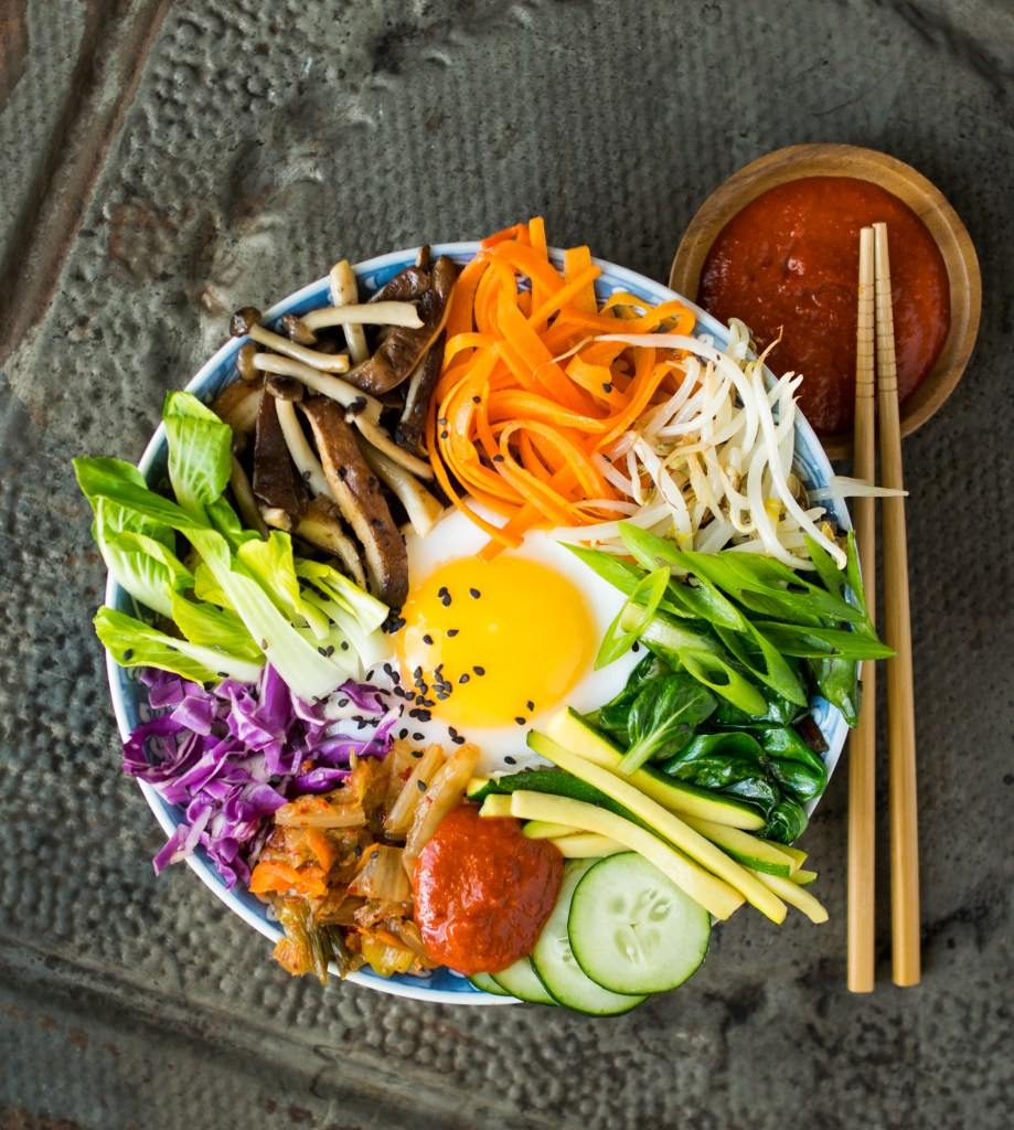 duck egg bibimbap
