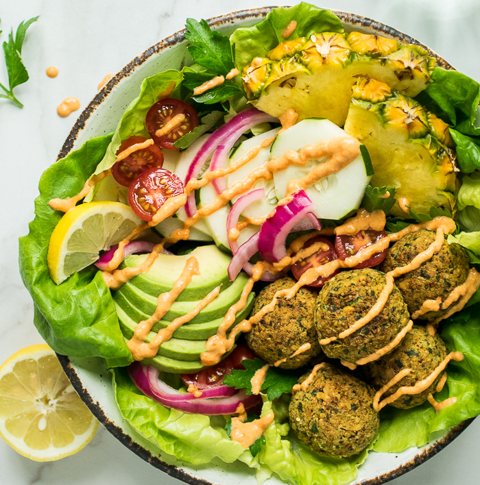 falafel bowls roasted red pepper