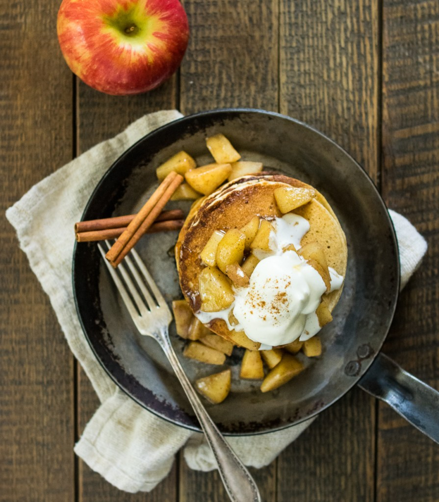 Gluten Free Apple Pie Pancakes | Reclaiming Yesterday