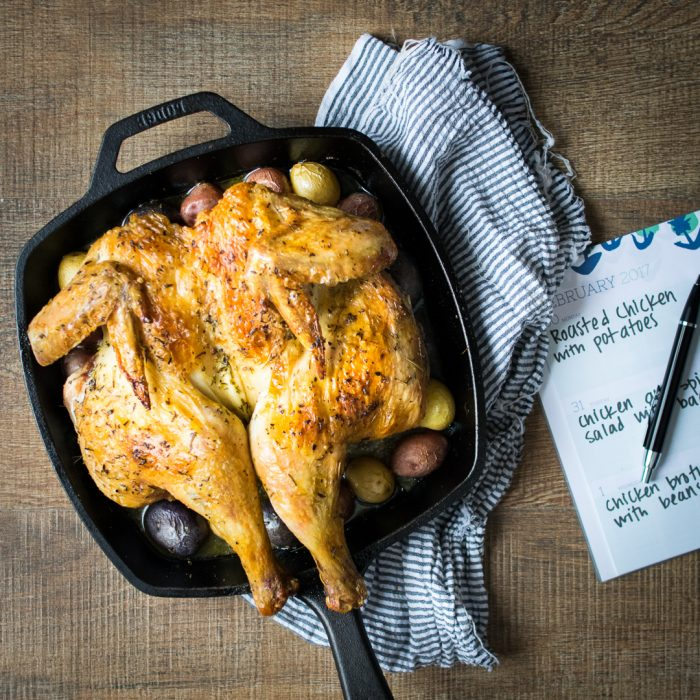 Roasted Organic Chicken with Potatoes