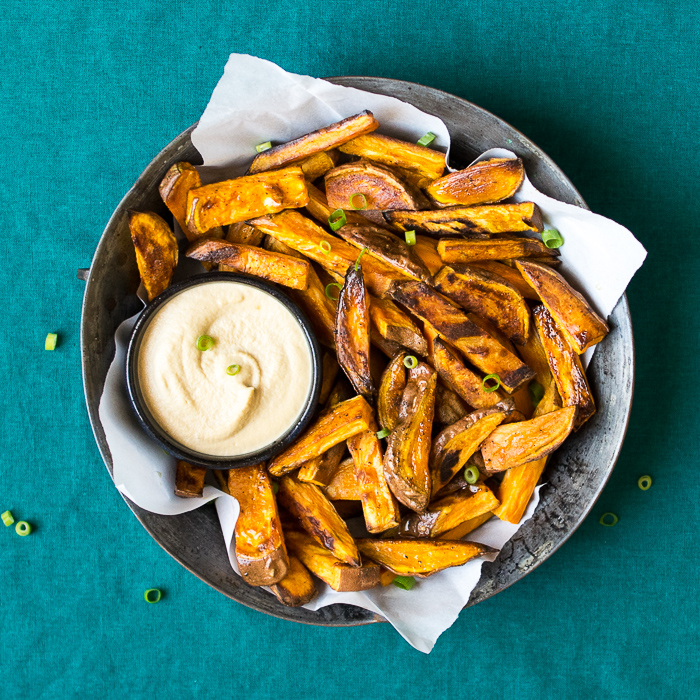 Sweet Potato Fries with Tamari Cashew Dip | Reclaiming Yesterday