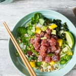 Tuna Poke with Mango and Avocado | Reclaiming Yesterday