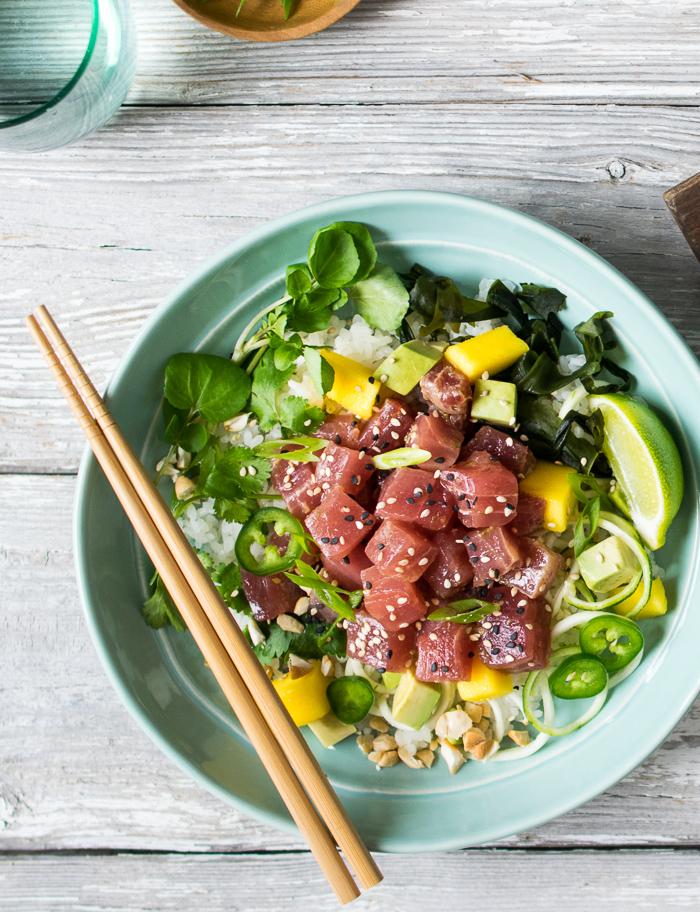 Tuna Poke with Mango and Avocado | Reclaiming Yesterday