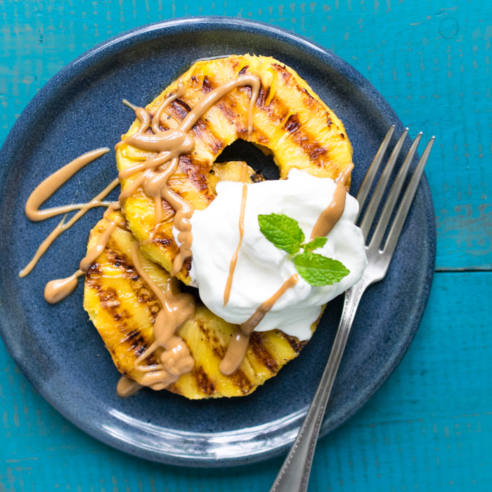 Grilled Pineapples with Cashew Drizzle | Reclaiming Yesterday