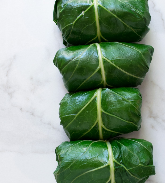 Turkey and Hummus Collard Wraps with Coconut Curry Sauce | Reclaiming Yesterday