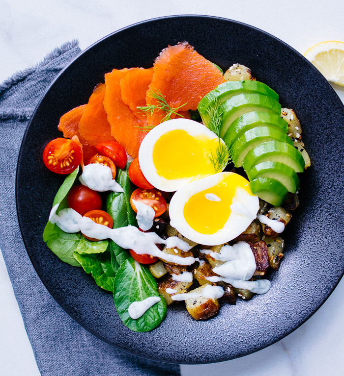 Soft Boiled Egg and Smoked Salmon Breakfast Bowl | Reclaiming Yesterday