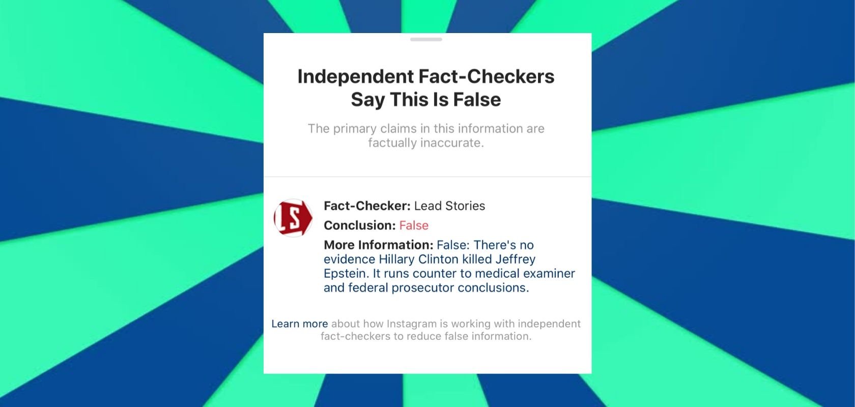 Fact Check Parody 1 Instagram Fact Checking Know Your Meme