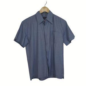 Camisa azul de manga curta - reCloset roupa em segunda mão