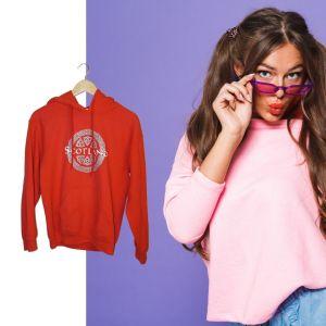 Sweatshirt vermelha Scotland - reCloset roupa em segunda mão