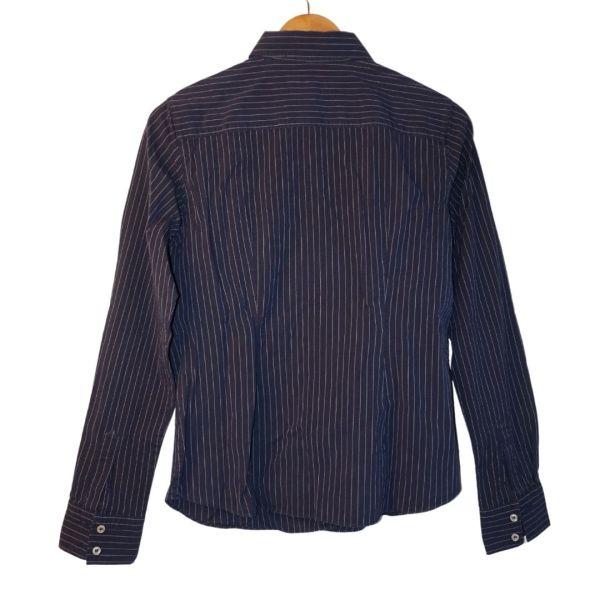 Camisa azul escura às riscas - reCloset roupa em segunda mão