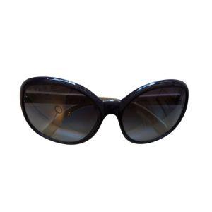 Óculos com armação em roxo e branco - reCloset roupa em segunda mão