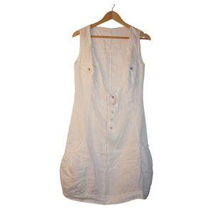 Vestido branco sem mangas - reCloset roupa em segunda mão