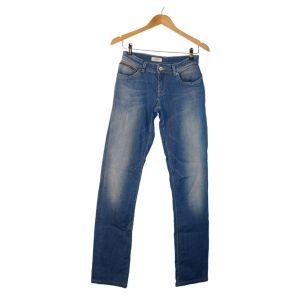 Calças de ganga azul com debruado nos bolsos - reCloset roupa em segunda mão