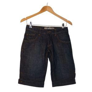 Calções compridos de ganga azul escura - reCloset roupa em segunda mão