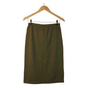 Saia envelope em malha verde - reCloset roupa em segunda mão