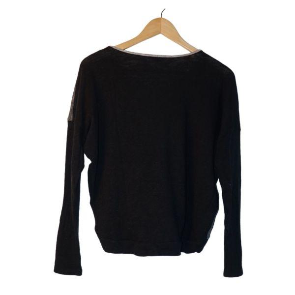 Camisola de malha preta e cinzenta - reCloset roupa em segunda mão