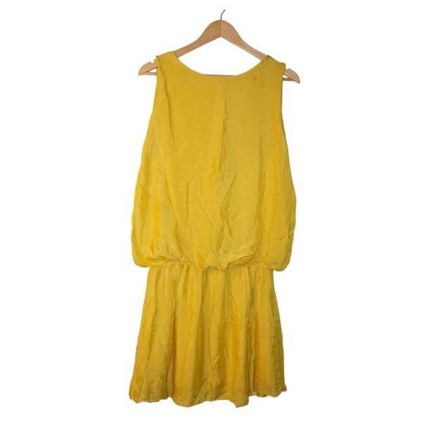 Vestido amarelo de cintura descida - reCloset roupa em segunda mão