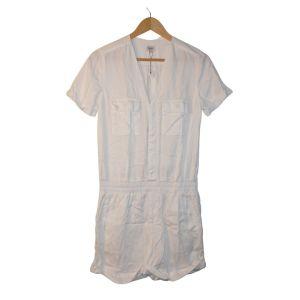 Macacão branco de calções - reCloset roupa em segunda mão