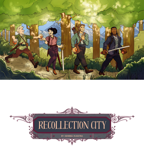 Recollection City webcomic by Henrike Dijkstra, dedicated to my family