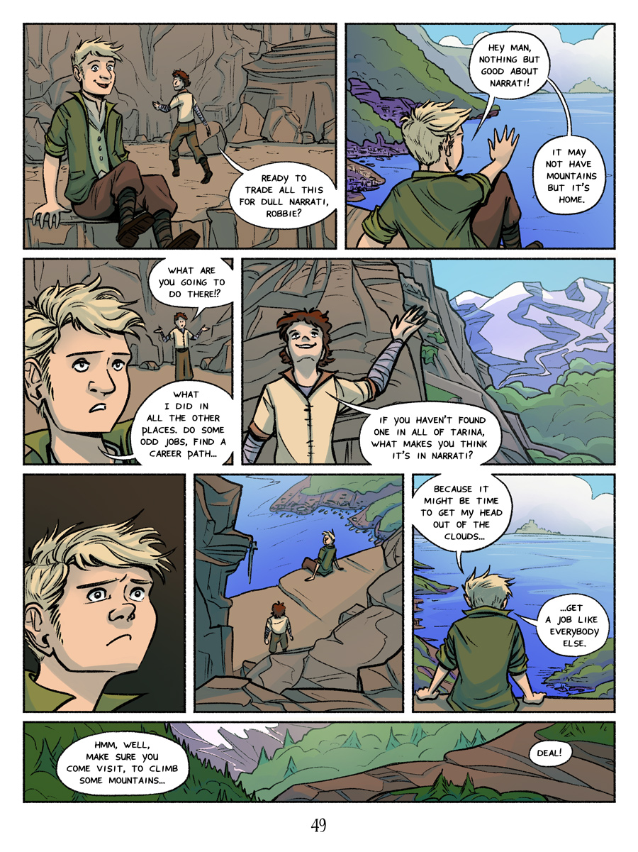Recollection City page 49 - Head out of the clouds