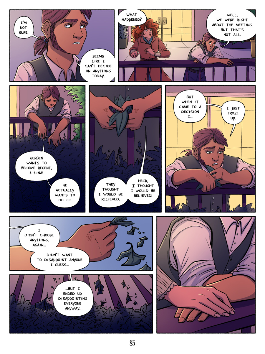 Recollection City page 85 - disappointing everyone