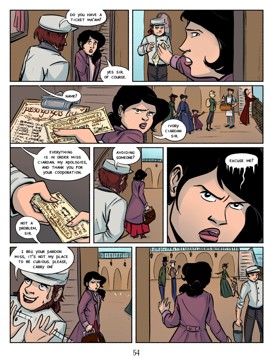 Recollection City page 54 - Avoiding someone